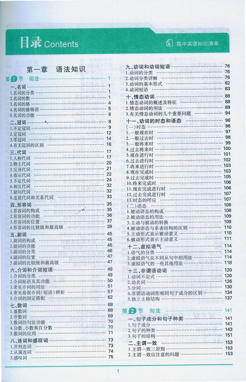 > 官方正品 2015版 高中知识清单 英语 课标版 53必备工具书系列